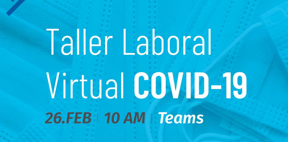 Anuncian taller laboral sobre el COVID-19